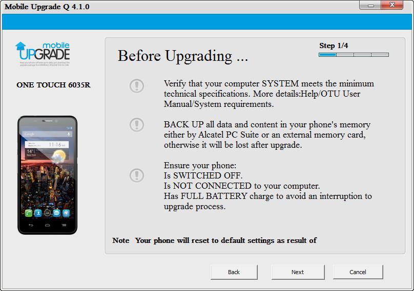 Mobile upgrade q скачать